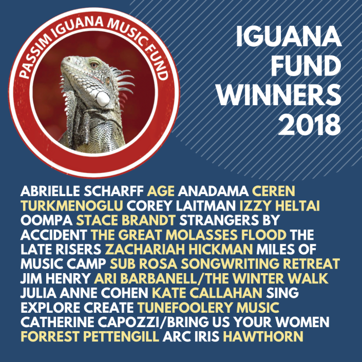 Passim Iguana Music Fund Winners 2018.